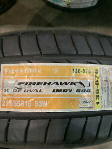 1 New 215 55 16 Firestone Wide Oval Indy 500 Tire