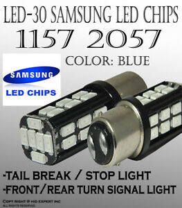 Samsung Led 1157 2357 30 Smd Blue Replace Front Turn Signal Car Halogen Bulb 44r