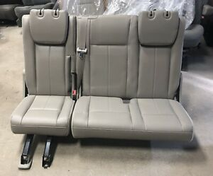 1 07 14 Ford Expedition 3rd Row Stone Leather Rear 3rd Row Bench Seat
