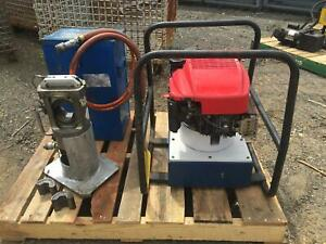 Huskie 60 Ton Compression Head Spx Gas Powered Hydraulic Powerpack Pg1203 alco