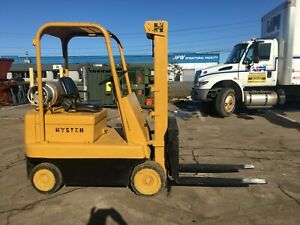 Hyster 4000 Cap Propane Forklift 10 Lift 42 Forks Cushion Tires Compact hd