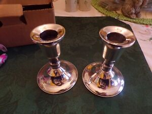 Vintage Sterling Silver Candle Sticks