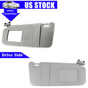 Gray 2x Sun Visor Left Right For 2007 2011 Toyota Camry Without Vanity Light