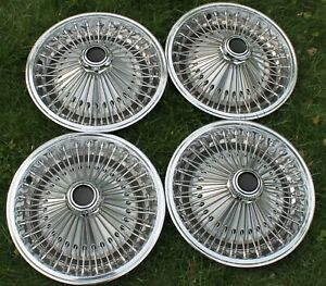 1970 1980 Barracuda Challenger Dart Valiant Charger 14 Wire Spoked Hubcaps Oem