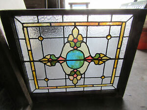 Antique Stained Glass Window 2 Of 2 30 X 26 Architectural Salvage