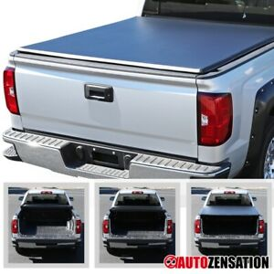 For 2015 2018 Chevy Silverado Sierra 1500 Black 6 5ft Bed Trifold Tonneau Cover