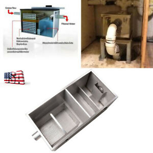 Commercial 25lb Grease Trap For Restaurants Kitchen 13gpm Gallons Per Minute Us