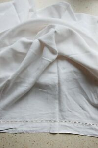 Vintage Large Linen Or Cotton Sheet White
