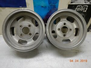 Vintage 13x6 4 lug Slot Mag Wheels Sunbeam Cortina Pinto Chevy Ford Capri Nova