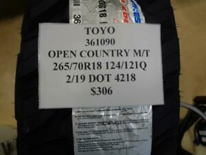 4 New Toyo Open Country M t 265 70 18 124 121q Lre Tires W Label 361090 Q9