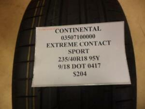 1 New Continental Extreme Contact Sport 235 40 18 95y Tire 03507100000 Q8