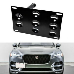 Front Bumper Tow Hook License Plate Mounting Bracket For 09 Up Jaguar Xf 17 Xe