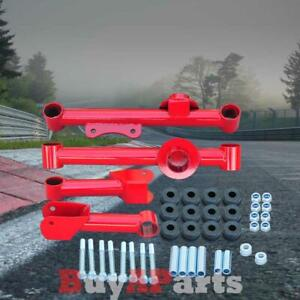 Red Rear Upper Lower Tubular Control Arms Kit For 1979 2004 Ford Mustang Gt Lx
