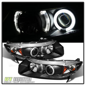 For Blk 2006 2011 Honda Civic 2dr Coupe Led Ccfl Projector Headlights Headlamps