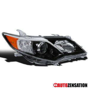 For 2012 2014 Toyota Camry Se Right Slick Black Clear Projector Headlight Lamp