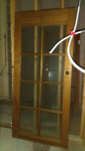 Pair Of 36 X 80 Wood Exterior French Doors