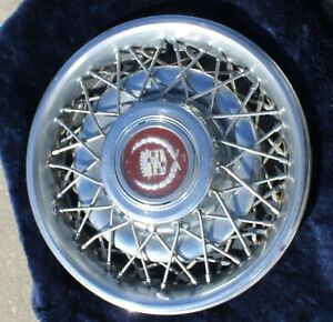 1986 1987 Cadillac 15 Wire Spoke Hubcap Wheel Cover Oem 2049 1637249 Rwd