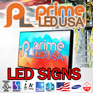 Led Sign Full Color P10mm Outdoor indoor 19 H X 75 50 W Wifi Cellphone App