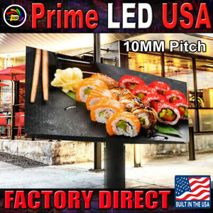 Led Sign Full Color P10mm Outdoor indoor 19 H X 63 With Wifi