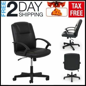 Serta Black Mesh Fabric Big Tall Manager Chair Office Desk Adjustable Heavy Duty