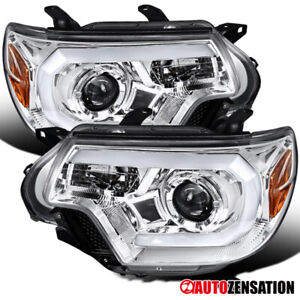 For 2012 2015 Toyota Tacoma Clear Projector Headlights Lamps Led Drl Bar Pair