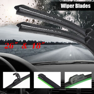 26 18 Premium Hybrid Silicone Windshield Wiper Blades High Quality J Hook Us