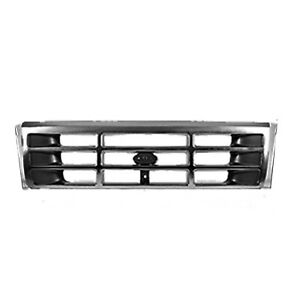 Fo1200323v New Grille Center Fits 1992 1996 Ford Bronco No Headlamp Rings