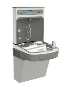 Elkay Lzs8wsvrlk Ezh2o Wall Mount Drinking Fountain And Bottle Filling Station W