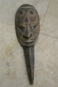 Original Iatmul Hand Carved Polychrome Big Man Debate Dagger Sepik Papua Guinea