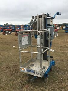2007 Genie Awp30 Manlift 30 Deck Hgt 36 Work Hgt 12v Push Around W outriggers