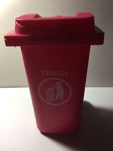 Toy Bin The Mini Curbside Trash Recycle Can Organizer pink