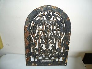 2b Antique Arched Cast Iron Decorative Heat Wall Grate Register