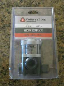 Electric Boom Valve countyline tsc 10gpm 100psi 12 Volt New Free S h