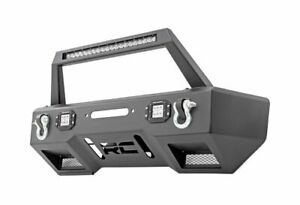 Rough Country Stubby Front Winch Bumper W Led For Wrangler Jl 11825_a