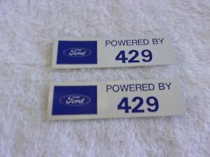 Ford Powered By 429 Valve Cover Decals Pair Ford Lincoln Mercury