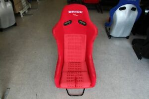 Bride Style Vios Iii Full Bucket Fixed Back Racing Seat Red Sparkle Shell