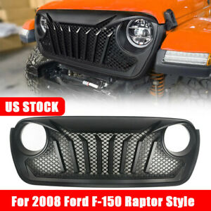 For Jeep Jl Front Hood Grill With Mesh Inserts For Jeep Wrangler Jl 2018 2019