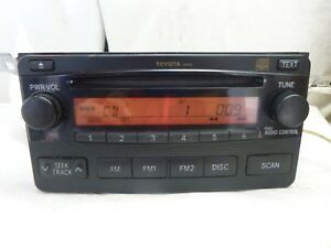 04 05 06 Toyota Matrix Am Fm Radio Cd Oem A51816 86120 02400 B1007