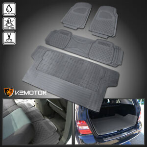 Gray Heavy Duty All Weather 3d Rubber Floor Mat Front Rear Trunk Seat Truck Suv