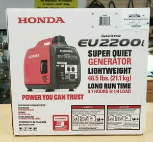 Honda Eu2200i Portable Inverter Generator 2200 Surge Watts Brand New Sealed