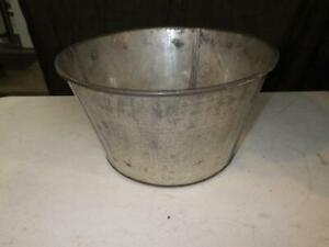 Antique Vintage Galvanized Leaded Pail