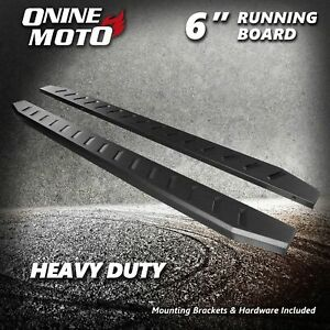 Fit 07 18 Chevy Silverado 1500 Extended Double Cab 6 Black Step Running Boards