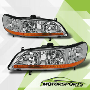 Fit 1998 2002 Honda Accord Chrome Oe Factory Style Headlights Replacement Pair