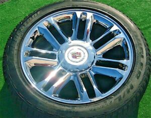 Set 4 New Cadillac Escalade Platinum 22 Inch Oem Factory Gm Style Wheels Tires