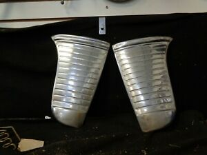 1949 Desoto Stone Guards Shields Rear Fender Pair Stainless Steel