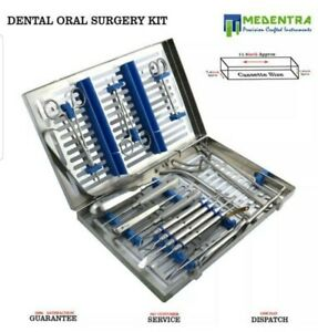 17 Pcs Medentra Advanced Oral Dental Surgery Surgical Instruments Set Kit Us S