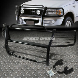 For 99 03 Expedition F150 2wd Black Coated Mild Steel Front Bumper Grill Guard
