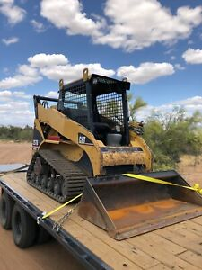 Cat 257b Skid Steer Rubber Track Loader Diesel Low Hours Bob Cat Xps High Flow