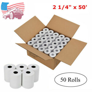 50 Rolls 2 1 4 X 50 Cash Register Credit Card Thermal Papers Pos Receipt Blank