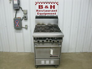 Garland Heavy Duty Starfire Sentry Natural Gas 4 Burner Stove Range Oven St28e